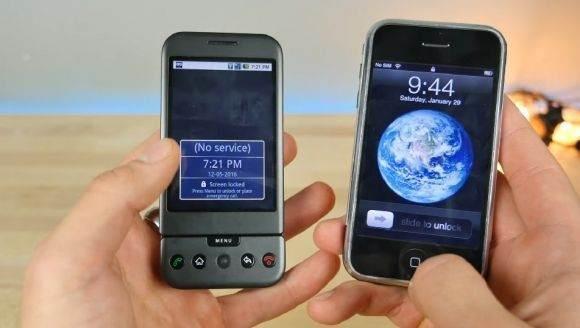 İlk iPhone Modeli ve ilk Android Modeli Karşı Karşıya