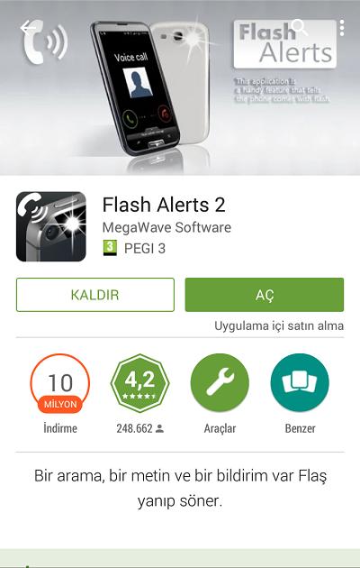 Android'de Flaş Işığını Bildirim Uyarısı Yapmak