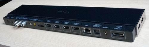 Samsung One Connect Box'ta hangi girişler bulunuyor?