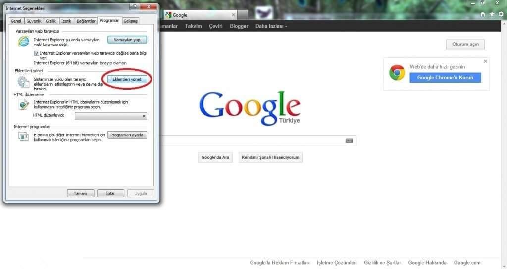 Yandex Nasıl Kaldırılır