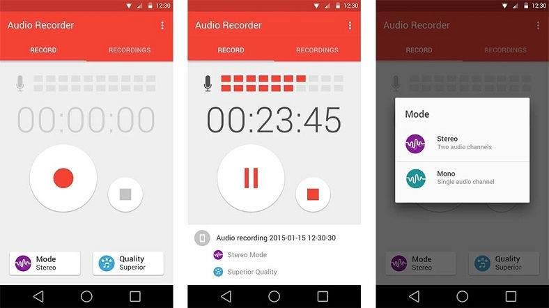 Android için 5 Ücretsiz Ses Kayıt Uygulaması