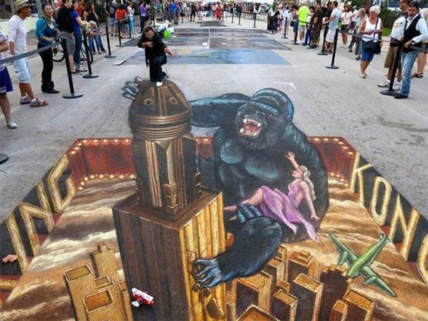 Muhteşem 3D Sokak Resimleri 1