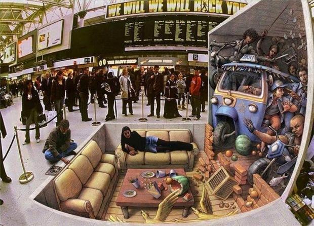 Muhteşem 3D Sokak Resimleri 10