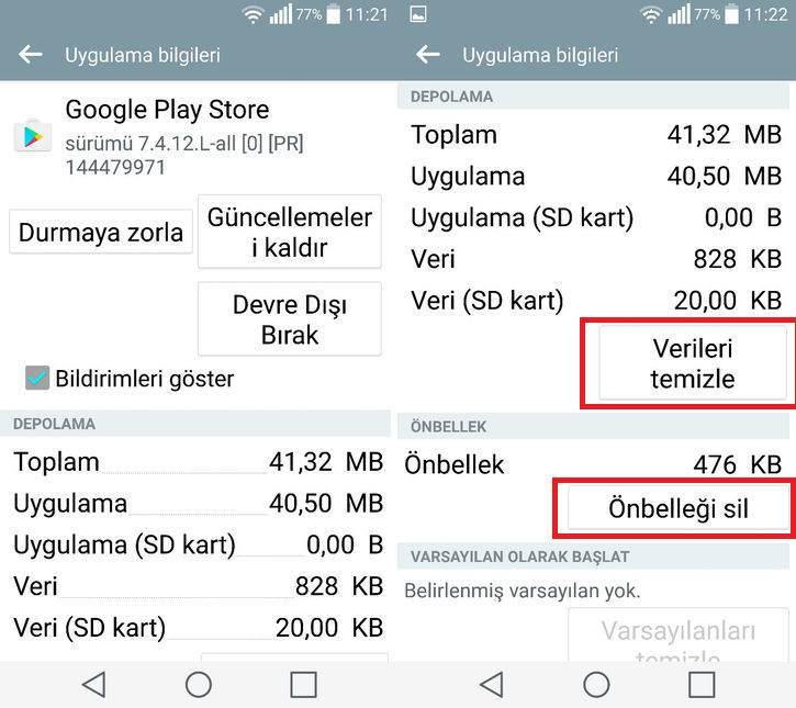 Google Play Rh-01 Hatası Nasıl Çözülür ?
