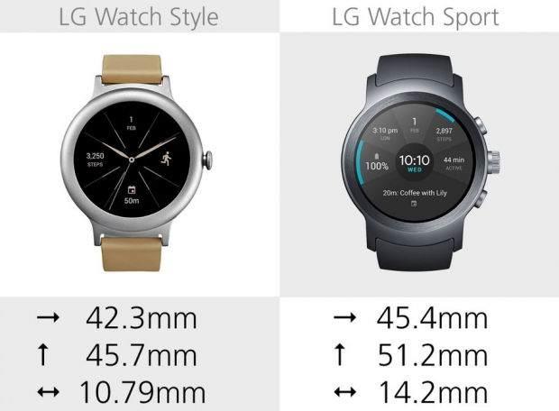 LG Watch Style ile LG Watch Sport Karşılaştırması 15