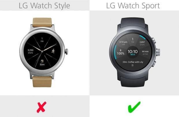 LG Watch Style ile LG Watch Sport Karşılaştırması 8