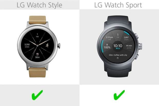 LG Watch Style ile LG Watch Sport Karşılaştırması 10