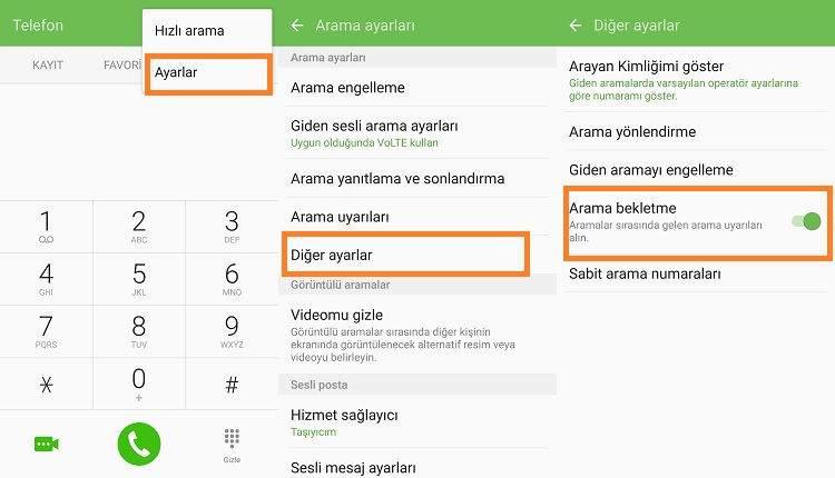 Android Telefonlarda Çağrı Bekletme