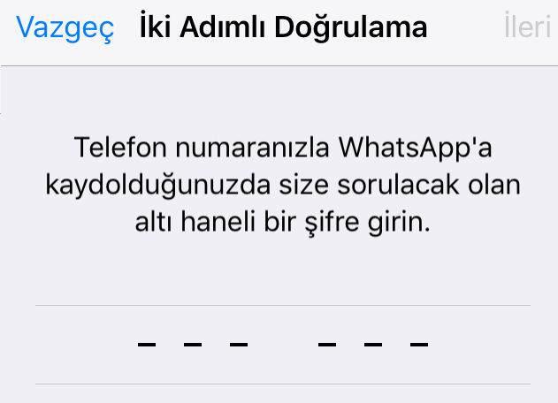 Whatsapp İki Adımlı Doğrulama Nasıl Etkinleştirilir ?