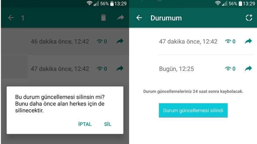Whatsapp Durumu Nasıl Silinir