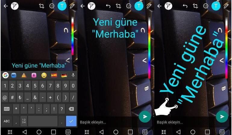 Whatsapp Durumuna Yazı Ekleme, Yazı Rengi Değiştirme