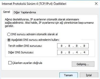 Windows 10 DNS Değiştirme Nasıl Yapılır ?