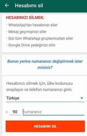 WhatsApp Hesabı Nasıl Silinir? (2017)