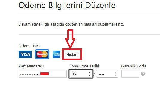 Apple Store'da Kredi Kartı Bilgilerini Kaldırma
