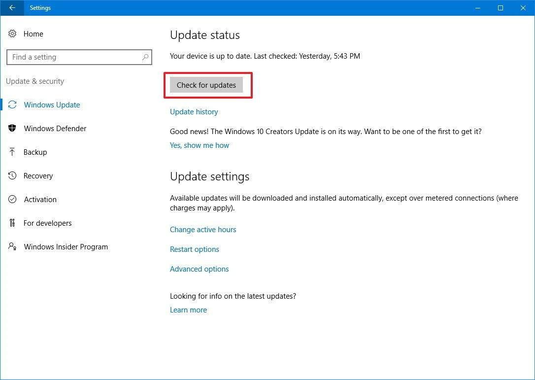 Windows 10 Creators Güncellemesi nasıl yüklenir?