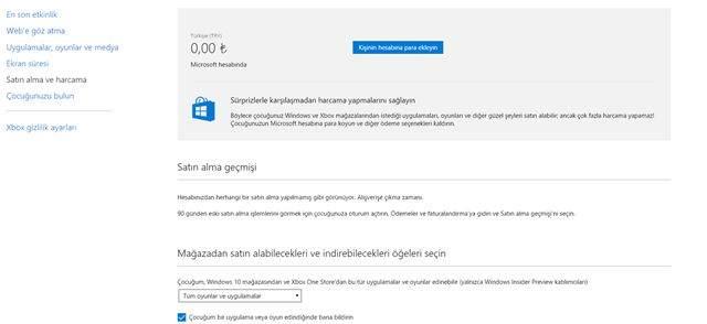 Windows 10'da Aile Hesabı Kurma ve Çocukların İnternet Faaliyetlerini İzleme