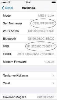 iPhone, iPad ve iPod Touch Seri Numarası Öğrenme