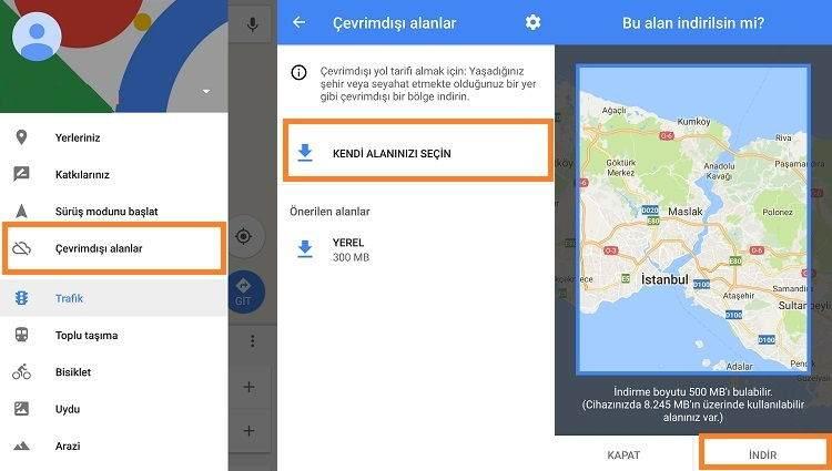 Google Haritalar Çevrimdışı Nasıl Kullanılır