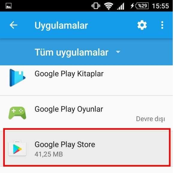 Google Play Store Kimlik doğrulaması gerekli Hatası Çözümü