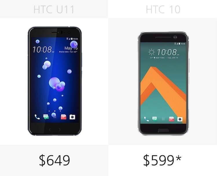 HTC U 11 vs HTC 10 Karşılaştırması-