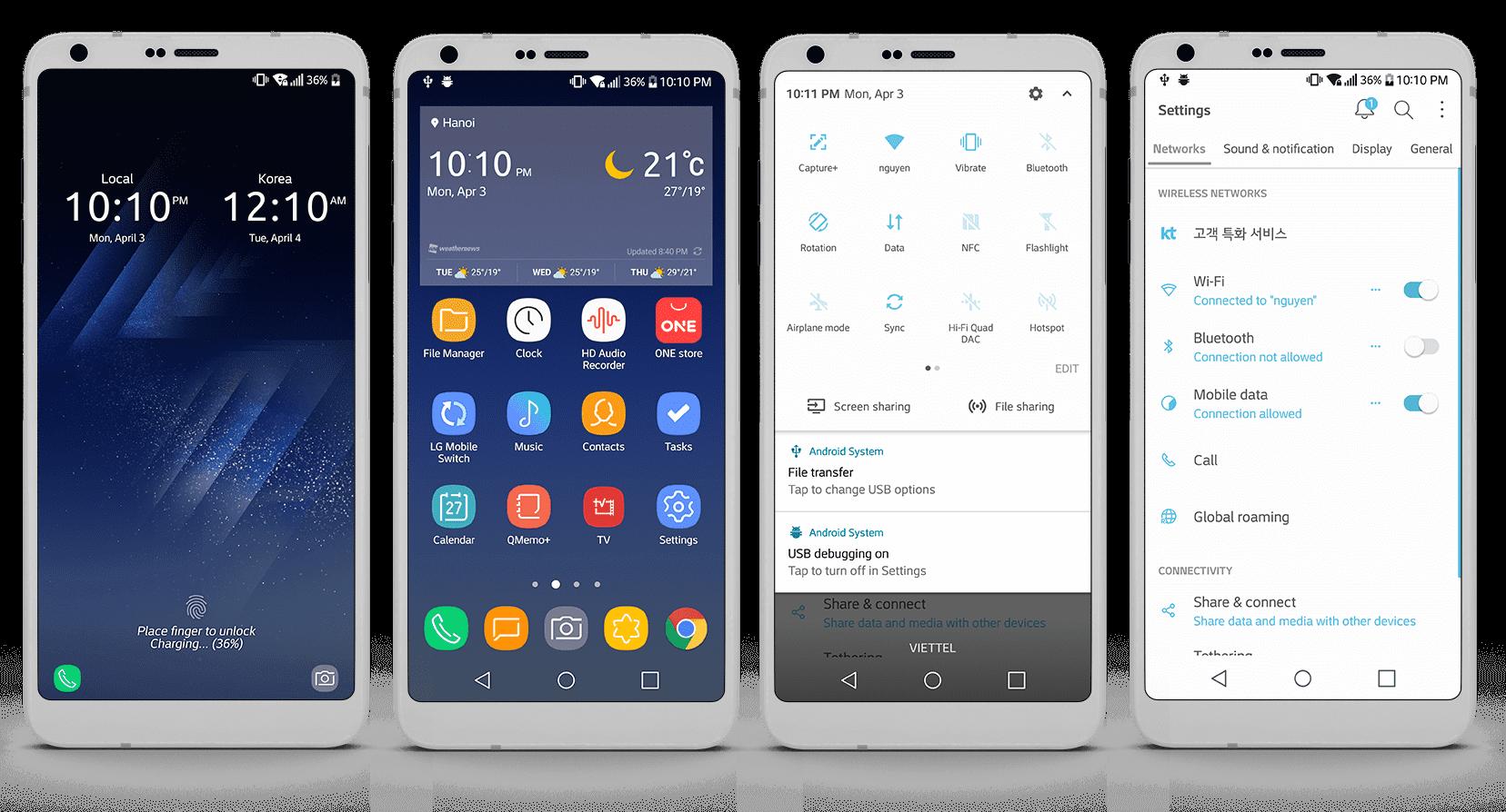 LG G6 için 8 Ücretsiz Premium Tema