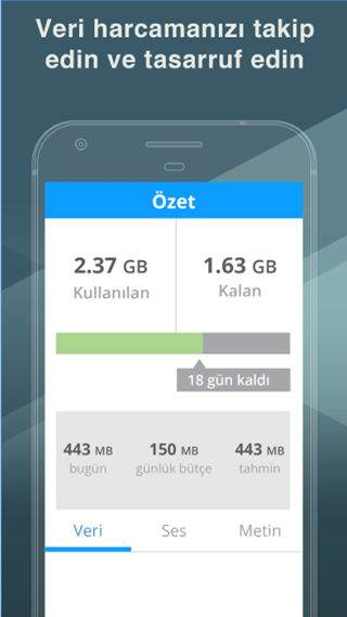 Telefonda İnternet Kotası Takip Uygulamaları