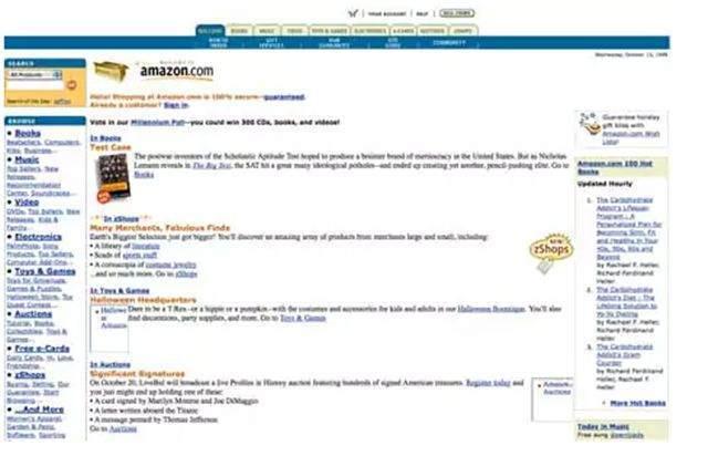 10 Popüler Web Sitesinin ilk Görünümleri