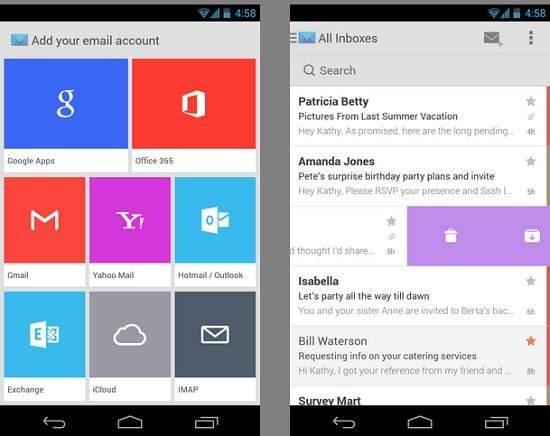 En iyi 10 Android Mail Uygulaması (2017)