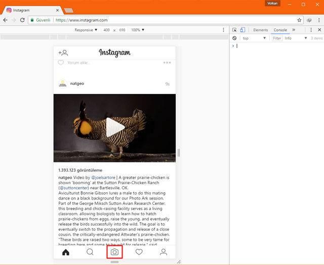 Instagram'a Programsız Fotoğraf Yükleme