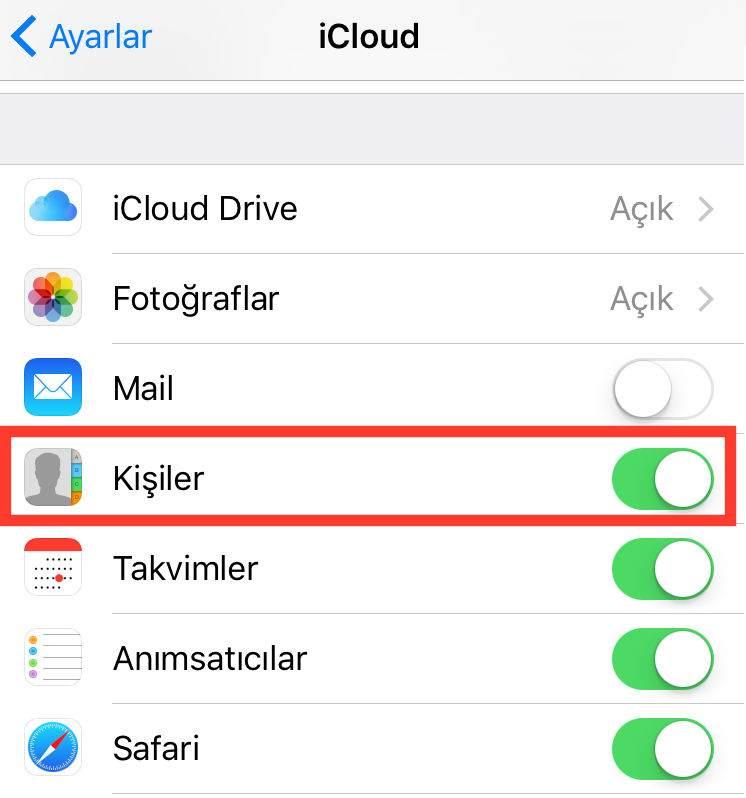iCloud ile iPhone Rehber Yedekleme Nasıl Yapılır?