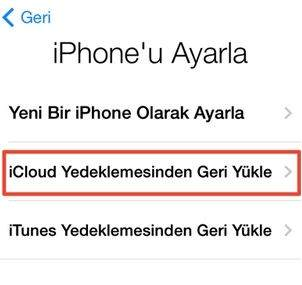 iPhone'dan iPhone'a Rehber Aktarma