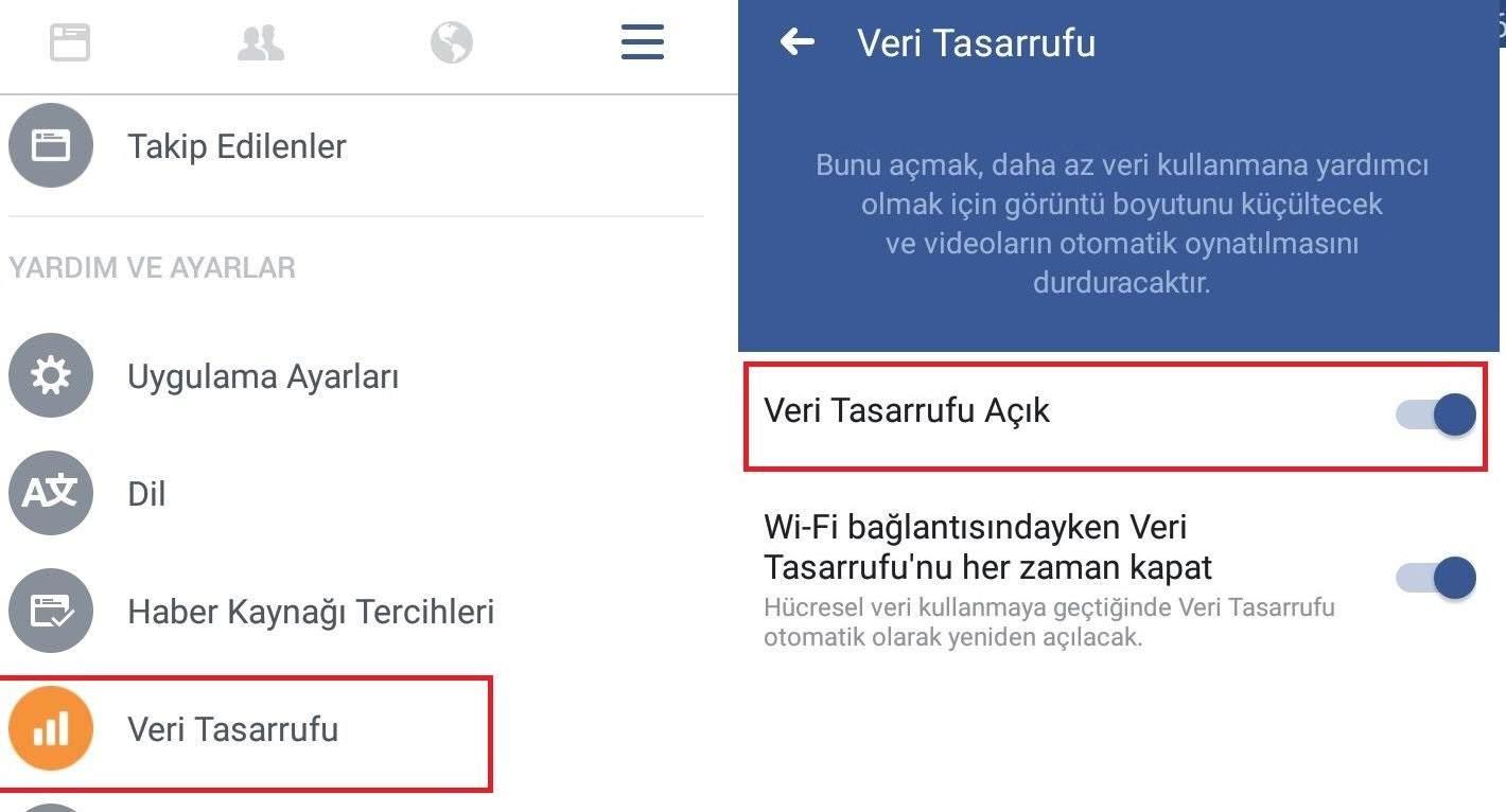 Facebook Veri Tasarrufu Nasıl Yapılır