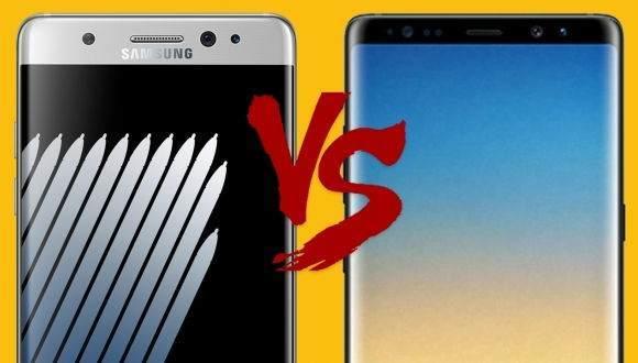 Galaxy Note 7 vs Galaxy Note 8 Karşılaştırması