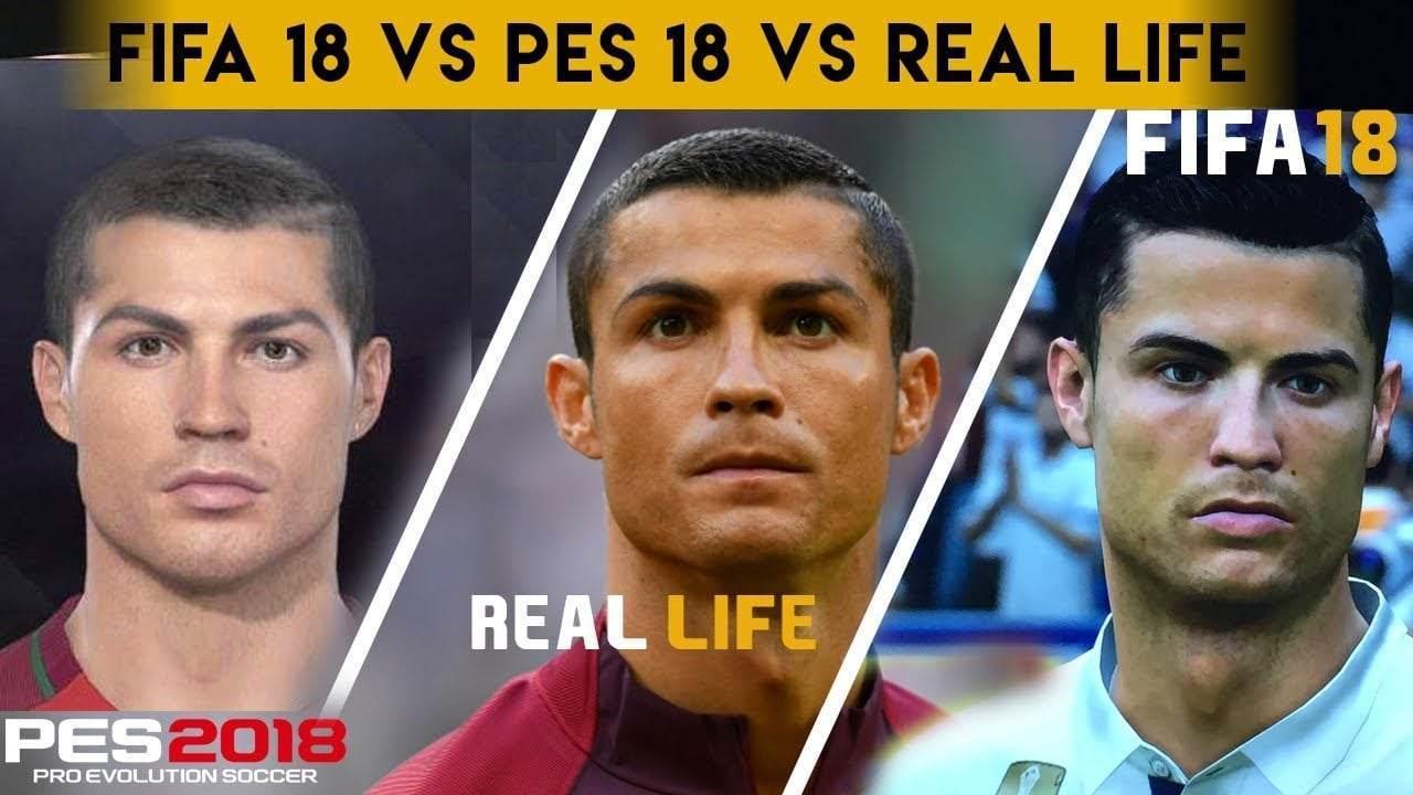 PES 2018 vs FIFA 18 Futbolcu Yüzleri Karşılaştırması