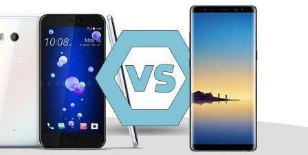 Samsung Galaxy Note 8 vs HTC U11 Karşılaştırmas