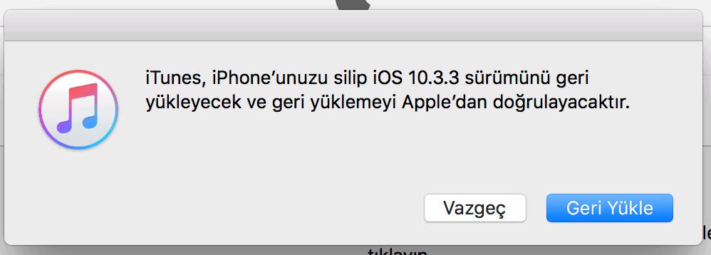 iOS 11'den iOS 10'a Dönüş Nasıl Yapılır