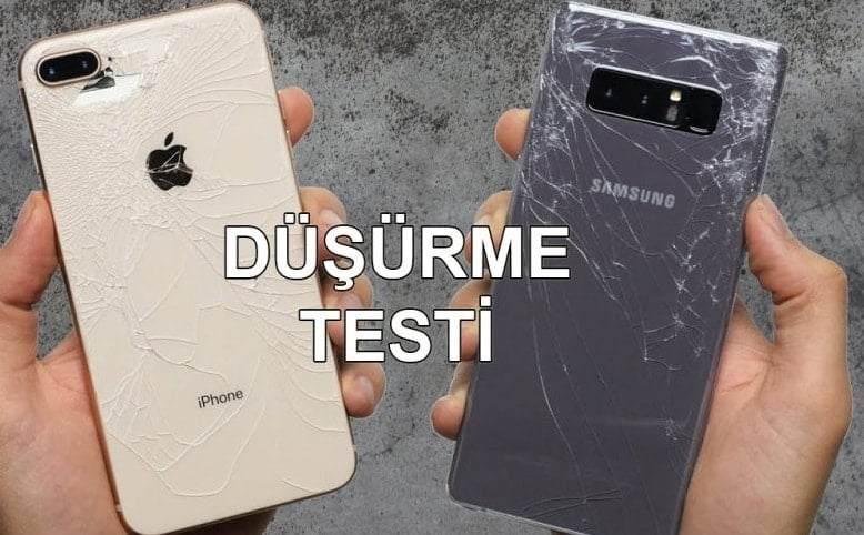 iPhone 8 Plus vs Galaxy Note 8 Düşürme Testi