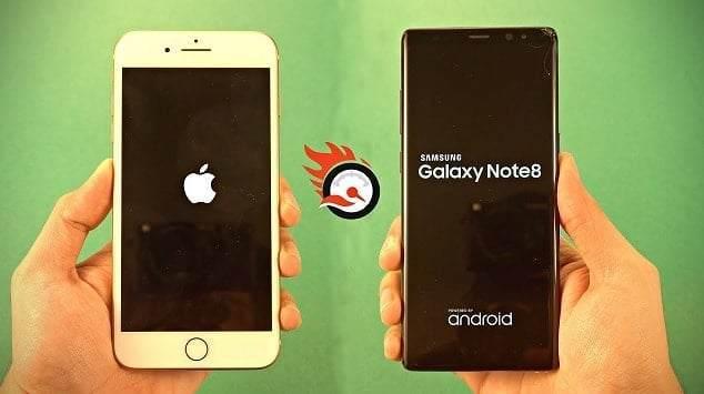 iPhone 8 Plus vs Galaxy Note 8 Hız Testi