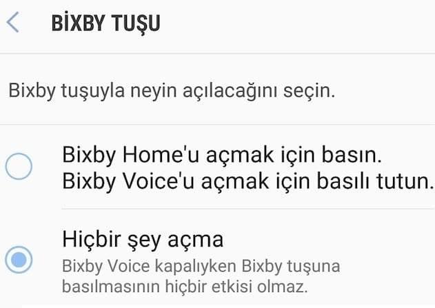 Bixby Nasıl Kapatılır ?