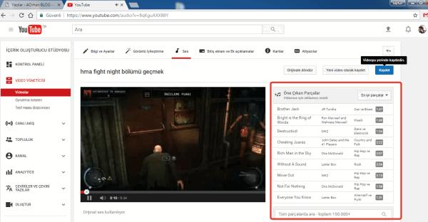 Youtube Video Arkasına Müzik Ekleme Nasıl Yapılır ?