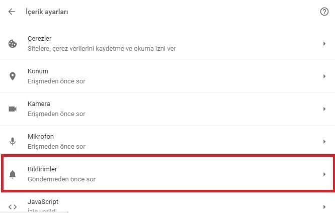 Google Chrome'da Bildirimleri Kapatma Nasıl Yapılır