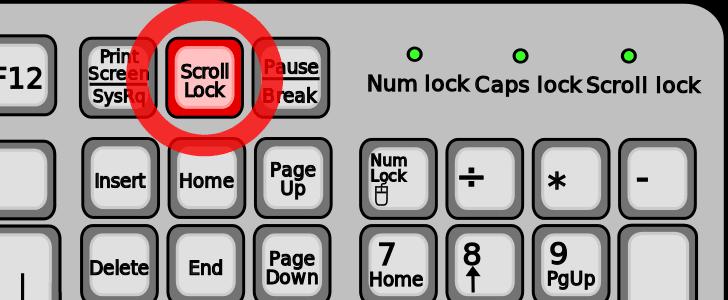 Scroll Lock Tuşu nedir, ne işe yarar ?
