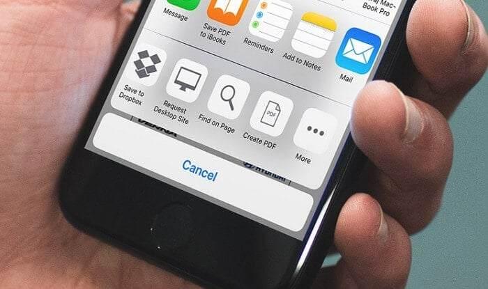 Telefonda Web Sayfası Nasıl Kaydedilir?
