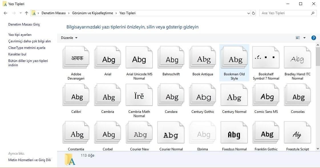Windows 10 Yazı Tipini Değiştirme Nasıl Yapılır?