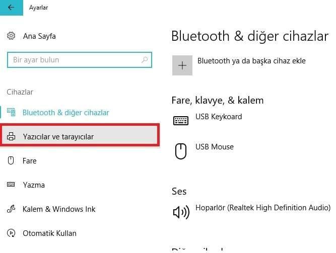 Windows 10'da Yazıcıyı Varsayılan Olarak Atama