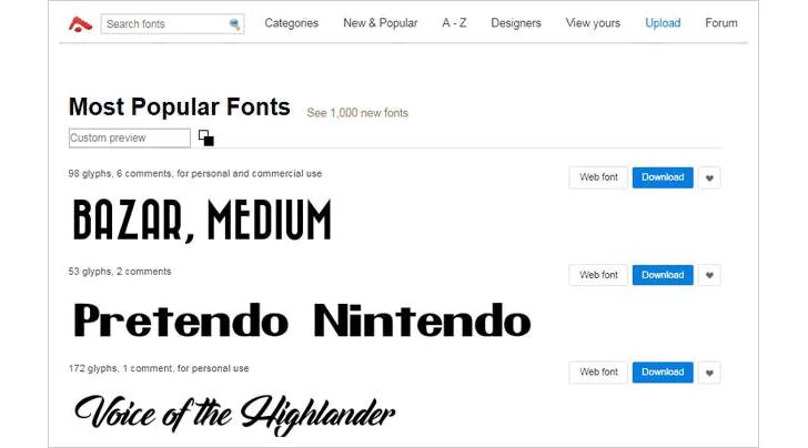 Ücretsiz Yazı Fontu Bulabileceğiniz 10 Site