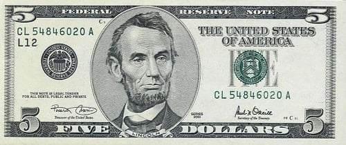 Amerikan Dolarının üzerindeki kişiler kimlerdir-5 DOLAR