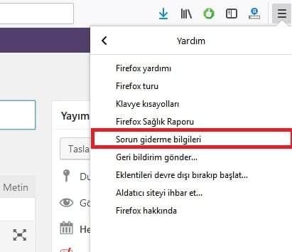Mozilla Firefox Tarayıcısını Sıfırlama nasıl yapılır