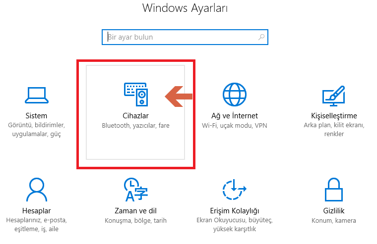 Windows 10 yüklemesinden sonra TouchPad çalışmıyor sorunu