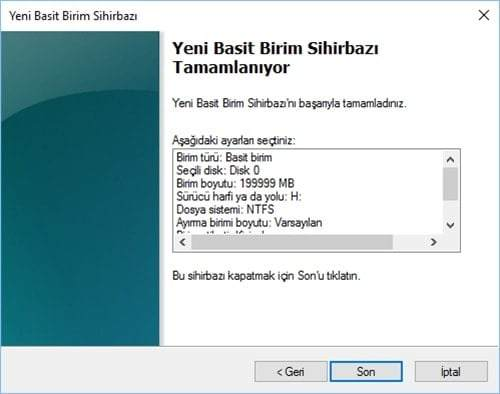 Windows'ta Yerel Disk D Nasıl Oluşturulur ?